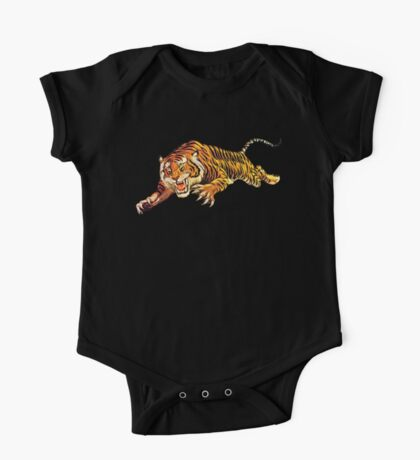 TIGER, ATTACK, Pounce, from Circus Poster One Piece - Short Sleeve
