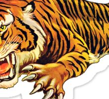 TIGER, ATTACK, Pounce, from Circus Poster Sticker