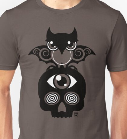 Monster by MUCK. Crypto Zoo. Demon Owl Unisex T-Shirt
