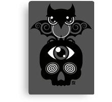 Monster by MUCK. Crypto Zoo. Demon Owl Canvas Print