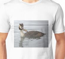 Great Crested Grebe with Perch Unisex T-Shirt