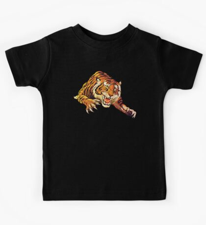TIGER, Head, Attack, Pounce, Growl,  Kids Tee