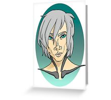 Metal Gear Rising-Raiden Greeting Card