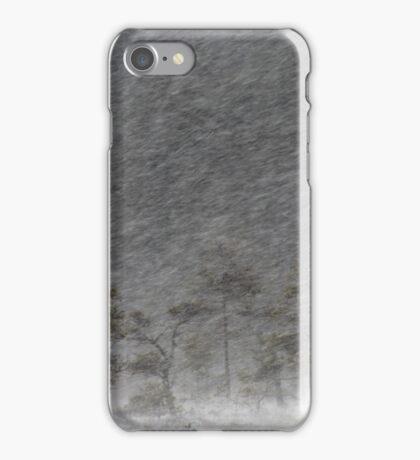 12.1.2017: Pine Tree in Blizzard III iPhone Case/Skin
