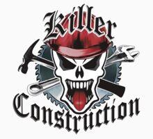 Construction Skull: Killer Construction Red 2.1 Kids Clothes