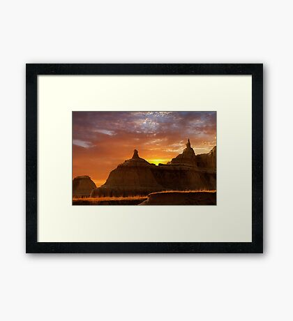 Sunrise over Badlands National Park .3 Framed Print