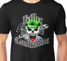 Construction Skull: Killer Construction Green 2.1 Unisex T-Shirt