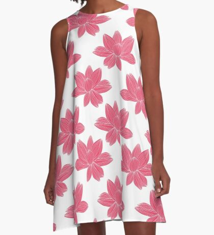 lotus flower pattern A-Line Dress