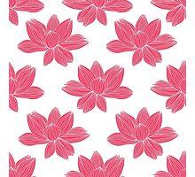 lotus flower pattern Photographic Print