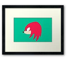 Sonic Mania - Knuckles Framed Print