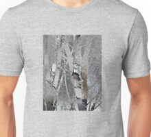 Winter Trees Rust Abstract Unisex T-Shirt