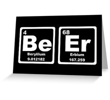 Beer - Periodic Table Greeting Card