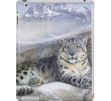 out of the wind-- snow leopard iPad Case/Skin