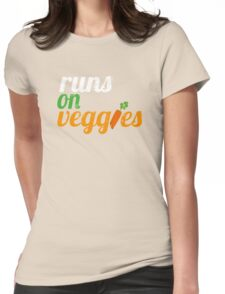 Runs on Veggies | Vegan T-Shirt  Womens Fitted T-Shirt
