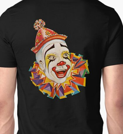CLOWN, Clown Head, Circus, Vintage, Advertising, Poster, Scary Unisex T-Shirt