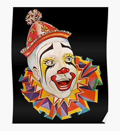 CLOWN, Clown Head, Circus, Vintage, Advertising, Poster, Scary Poster