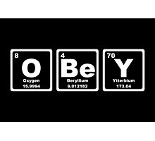 Obey - Periodic Table Photographic Print