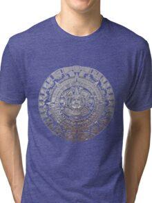 Modern Aztec Sun Stone Tri-blend T-Shirt