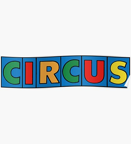 CIRCUS, Lettering, Vintage, Type,  Poster