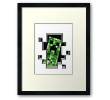 """Ehii, you!"" Creeper - Minecraft Framed Print"
