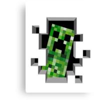 """Ehii, you!"" Creeper - Minecraft Canvas Print"