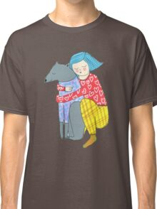 Girl and her dog Classic T-Shirt