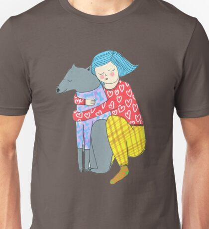 Girl and her dog Unisex T-Shirt