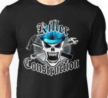 Construction Skull: Killer Construction Blue 2.2 Unisex T-Shirt