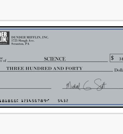 The Giant Check  Sticker