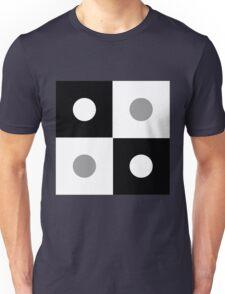 Opposite Square Black Grey  circle  Unisex T-Shirt