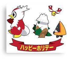 Happy Pokémon Holidays! Canvas Print