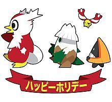 Happy Pokémon Holidays! Photographic Print