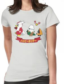 Happy Pokémon Holidays! Womens Fitted T-Shirt