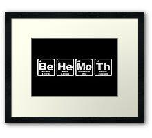 Behemoth - Periodic Table Framed Print