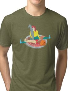 Girl with her dogs Tri-blend T-Shirt
