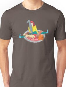 Girl with her dogs Unisex T-Shirt