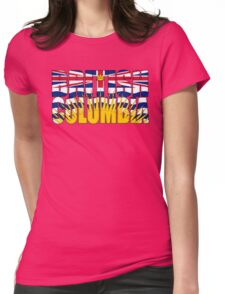 British Columbia Flag Womens Fitted T-Shirt