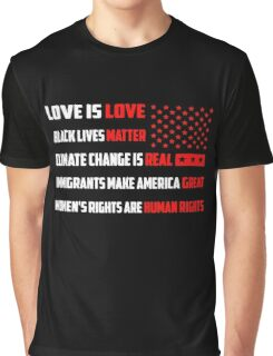 Love Is Love Trump - White Graphic T-Shirt