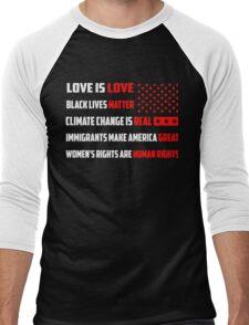 Love Is Love Trump - White Men's Baseball ¾ T-Shirt