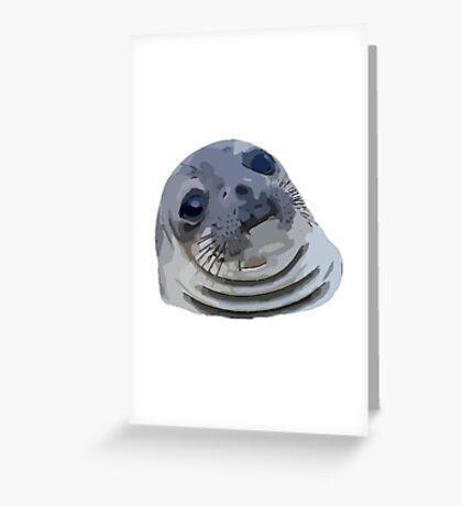 9GAG - Awkward moment seal - Cartoon Greeting Card