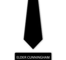 Elder Cunningham Tie Name Tag by GoodbyeMrChris