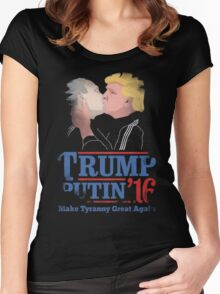 Trump And Putin Women's Fitted Scoop T-Shirt