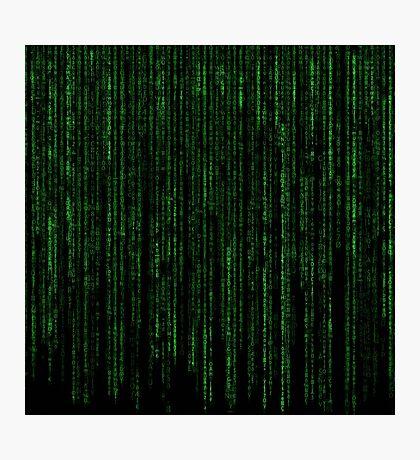 Matrix Code Pattern Photographic Print