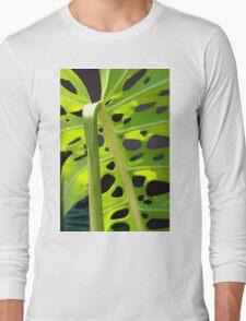 Swiss Leaf - Macro Photography Long Sleeve T-Shirt