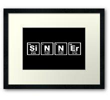Sinner - Periodic Table Framed Print