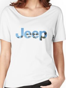 Jeep Palm Trees Sky Women's Relaxed Fit T-Shirt