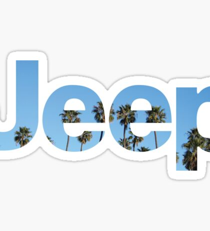 Jeep Palm Trees Sky Sticker