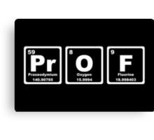 Prof - Periodic Table Canvas Print