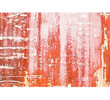 Red Rusty Train Texture Photographic Print