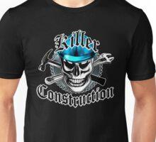Construction Skull: Killer Construction Blue 4.1 Unisex T-Shirt